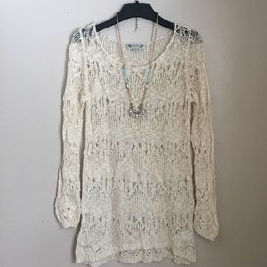 Poof! Sweaters - Poof brand super long open knit sweater