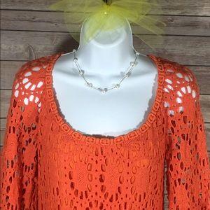 Trina Turk Dresses & Skirts - Trina Turk Orange Lace Dress Size 6