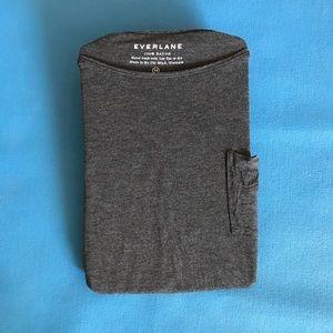 Everlane Tops - Grey everlane long sleeve pocket t