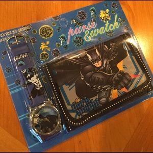 Batman Other - Batman Children's Watch and Wallet/ New