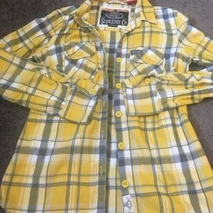 Superdry Tops - Superdry 100% cotton flannel