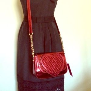🎉HP🎉Betsey Johnson Quilted Heart CrossBody bag