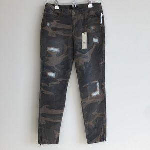 ABS Allen Schwartz Denim - ABS Distressed Camo Jeans