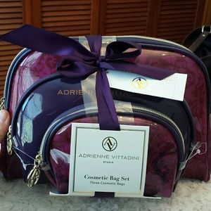 Adrienne Vittadini  Handbags - Adrienne Vittadini NWT Purple+Pink Cosmetic Cases