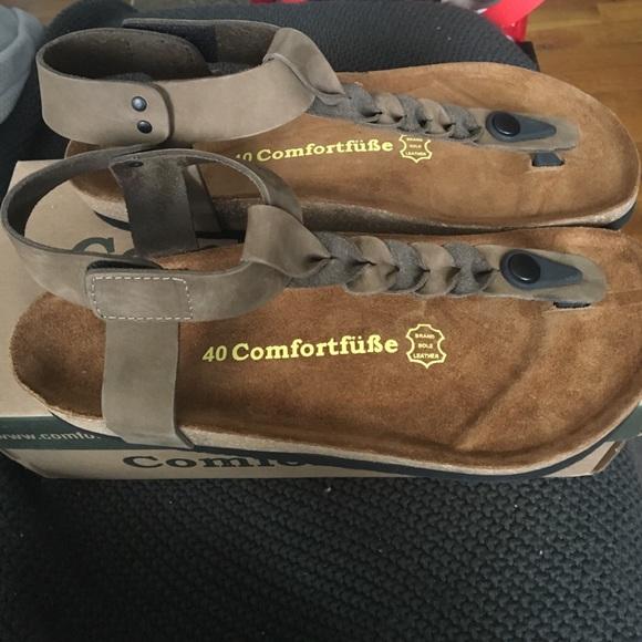 8b683e0501d Comfortfusse Sand Gaspara leather sandals