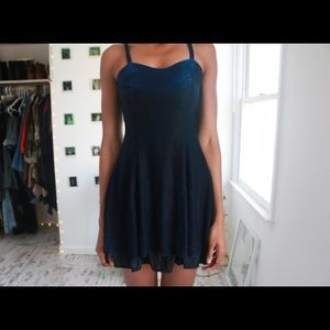 Black & Blue Cocktail Dress
