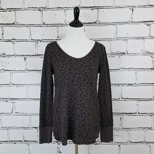 Free People Purple Cheetah Top!