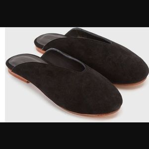 Rachel Comey Shoes - Creatures of Comfort black suede slides