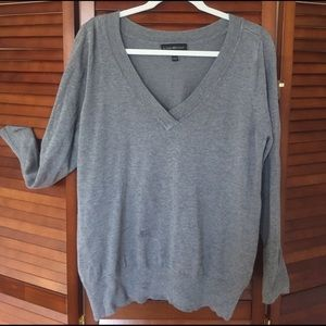 Plus size grey light weight sweater