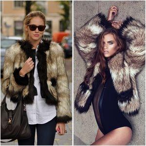Lanvin for H&M Jackets & Blazers - Lanvin for H&M Faux Fur Coat jacket size 8