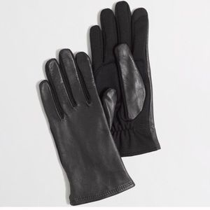 NWT J. Crew Leather Gloves S M