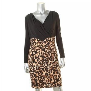 Thalia Sodi Dresses & Skirts - Thaila Sodi Tan Animal Print Long Sleeves L