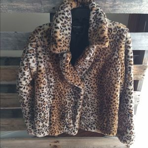 Behnaz Sarafpour Jackets & Blazers - Last chance Behnaz Sarafpour Target faux Leopard