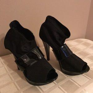 bumper Shoes - Gorgeous black stretchy ankle boots/shoes