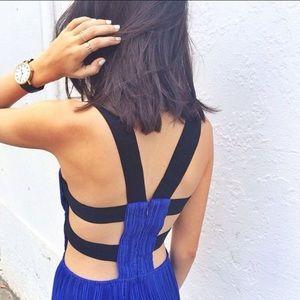 Shakuhachi Dresses & Skirts - Shakuhatchi Stretch Pleat Harness Dress in Blue