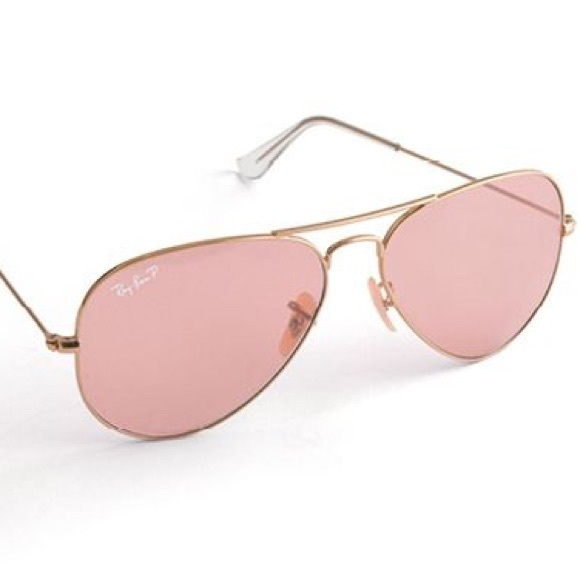 6644552c3cf7 Ray-Ban Accessories | Rose Colored Rayban W Gold Frame Make A Offer ...