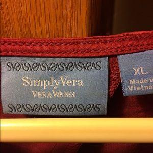 Vera Wang Tops - Vera Wang Simply Vera Top. Ruby with Black Accent