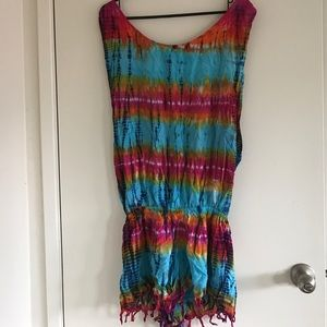 Other - Rat and Boa tie dye romper