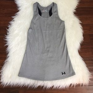 Under Armour Tops - Under Armour Gray Fitted Workout Tank Top