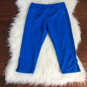 Kyodan Pants - Kyodan Blue Cropped Cutout Workout Leggings