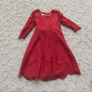 Monsoon Other - Red Lace Dress
