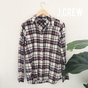 EUC J.Crew boy shirt in Clinton plaid