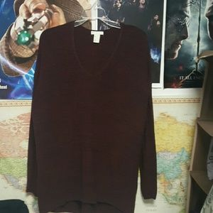 H&M conscious maroon sweater