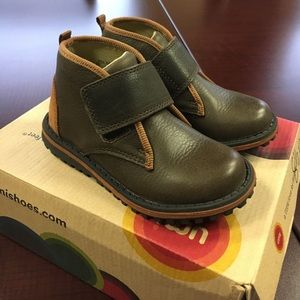Umi Other - Umi boys olive multi color boots with velcro strap