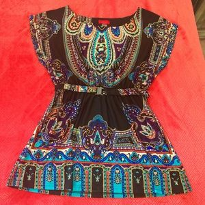 Love Notes Tops - Love Notes Colorful Paisley Tunic - sz L