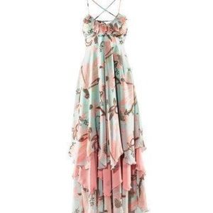H&M Dresses & Skirts - Bohemian Floral tiered ruffle Maxi