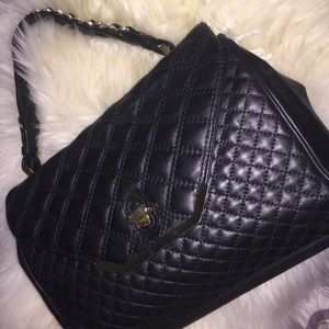Brooks Brothers Black Leather Handbag