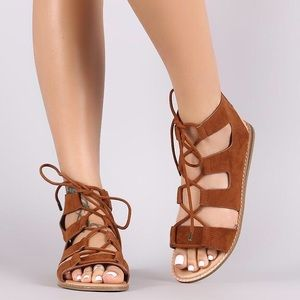Shoes - 🌟MORE SIZES JUST ADDED🌟 Suede Lace Up Sandals