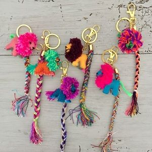 Accessories - Colorful Hand Made Lion Keychain