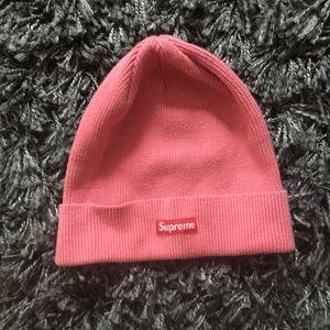 Supreme Accessories - Supreme Solid Box Logo Beanie Pink