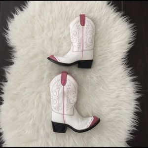 Old West Other - Girls white and pink cowgirl boots. Cowgirl boots