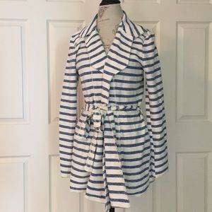 Tulle Jackets & Blazers - Final Price Tulle NWT Striped KnitBelted Jacket