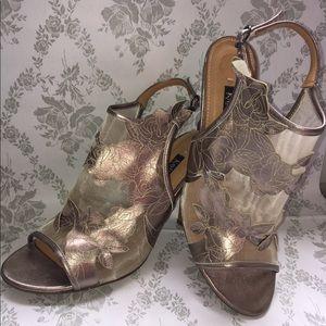 Kay Unger women's heels gunmetal color sz 11