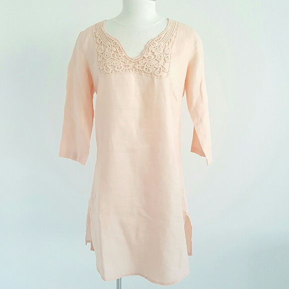 c24cab15c57 NWT MALVIN LINEN Peach LInen Dress