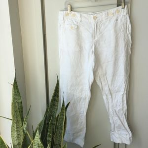 G1 Basic Goods/Anthropologie linen pants.