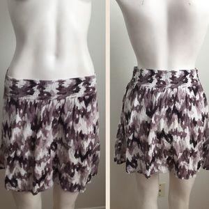 Frenchi Dresses & Skirts - Frenchi purplish grey and white skirt
