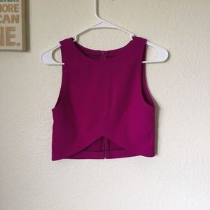 Tops - Asymmetrical Sleeveless Crop Top