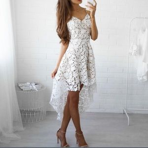 Vogue Vice Dresses & Skirts - 🌴⭐️1 LEFT⭐️NWT white sexy lace midi dress
