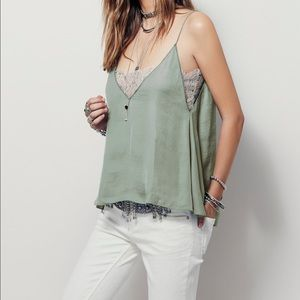 Free People Tops - Free People Deep V Lace Bandeau Camisole