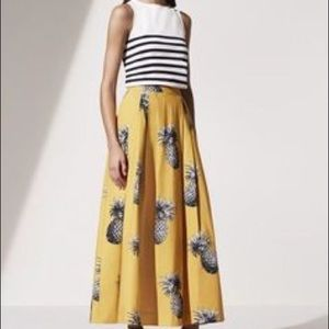 Ann Taylor Dresses & Skirts - Pineapple Print Midi Skirt