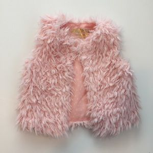 Genuine Kids by Target Other - Pink Faux Fur Vest
