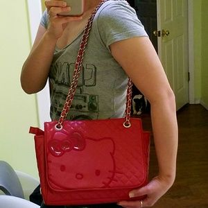 Sanrio Hello Kitty Embossed Red Faux Leather Purse 8db73ba3509c8