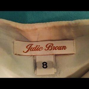 julie brown Skirts - Adorable silk mini skirt w pretty spring colors