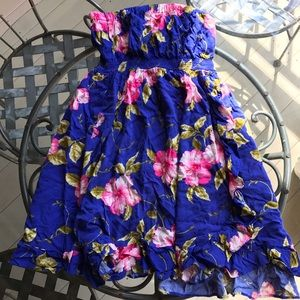 Price Drop! Strapless Floral Dress