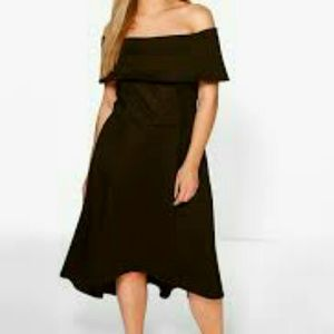 Boohoo Plus Dresses & Skirts - Boohoo Plus Off the Shoulder High-Low Dress