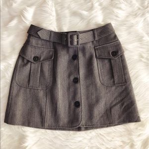 • Moschino • Wool Belted Mini Skirt